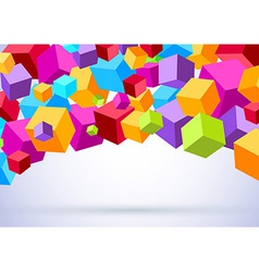 Background with colorful cubes vector