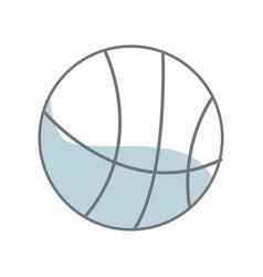 basketball ball sport equipment supply icon vector image vector image
