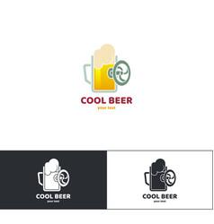 beer logo nine vector image vector image