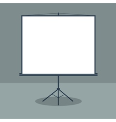 Boardroom with standing white board business vector