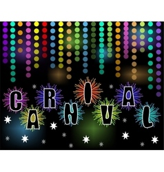 Carnival black billboard with rainbow confetti and vector image vector image