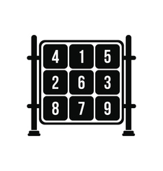 Cubes with numbers on a playground icon vector image vector image