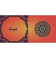 Decorative vintage eastern mandala frame vector image vector image