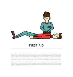 First aid emergency vector
