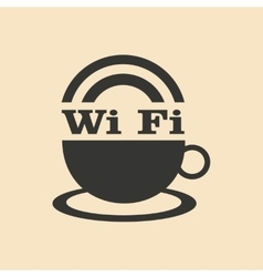 Flat in black and white mobile application wi-fi vector
