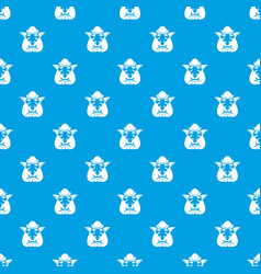 Head of troll pattern seamless blue vector