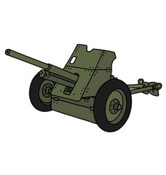 Old green cannon vector