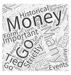 Paper money collecting word cloud concept vector