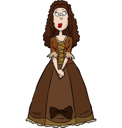 Renaissance girl vector