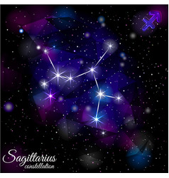 sagittarius constellation with triangular vector image vector image