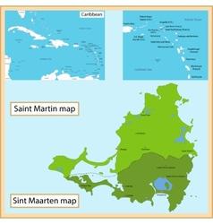 Saint Martin and Sint Maarten vector image vector image