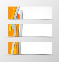 Set of header banner minimalistic design vector