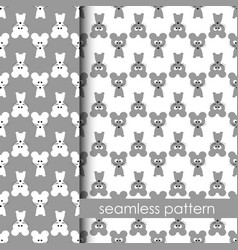 set of seamless pattern with mouse vector image vector image