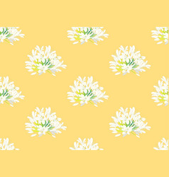 snow white agapanthus on yellow background vector image