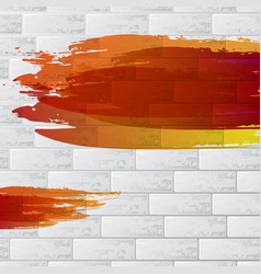 warm painted brick wall vector image