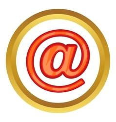 Sign e-mail icon vector
