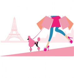 Shopping in paris vector