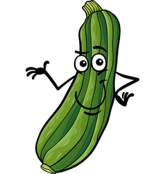 funny zucchini vegetable cartoon vector image