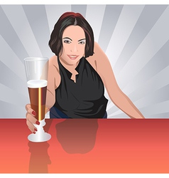 Barmaid vector image