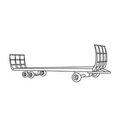 Specialized trailer on wheels for trucks for vector