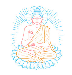 Buddha purnima icon vector
