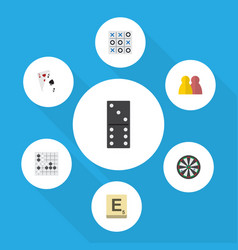 Flat icon games set of ace people bones game and vector