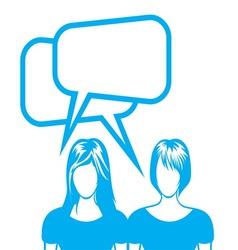 social network sa ljudima2 vector image