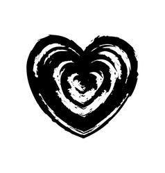 Grunge heart symbol sign design element vector