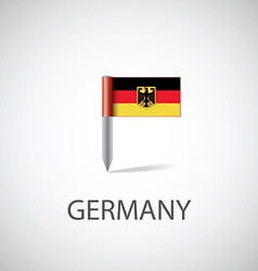 Germany flag pin vector