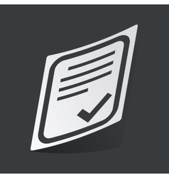Monochrome approved document sticker vector