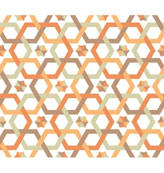 Overlapping hexagons - seamless pattern vector
