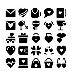 Love and romance icons 7 vector
