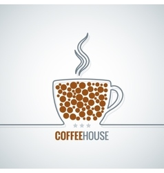 Coffee cup line design background vector
