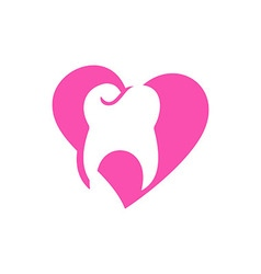 Logo Dental Healthy Care Tooth Love Protection vector image
