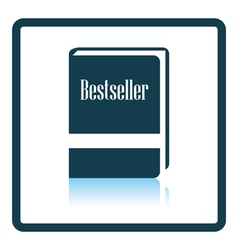 Bestseller book icon vector