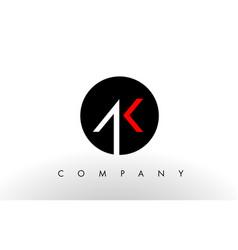 ak logo letter design vector image vector image