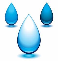 aqua droplet vector image vector image