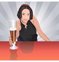 Barmaid vector image