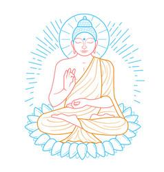 Buddha purnima icon vector