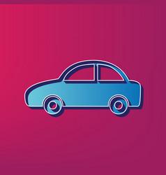 Car sign blue 3d printed vector