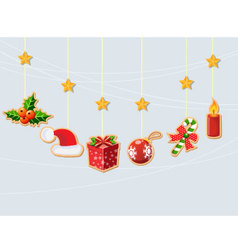 Christmas holiday dresses collection of icons 2 vector image vector image