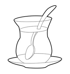 Cold tea icon outline style vector