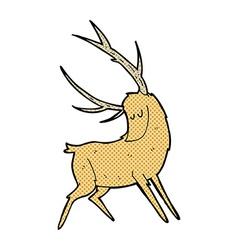 comic cartoon stag vector image