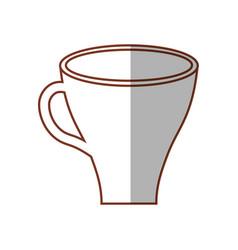 Cup coffee drink shadow vector