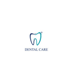dental care icon logo template vector image