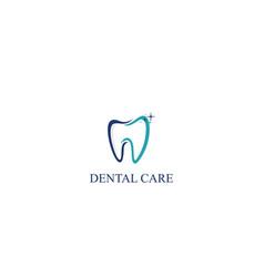 dental care icon logo template vector image vector image
