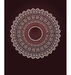 Ethnic aztec circle ornament vector