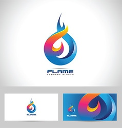 Fire flame logo vector