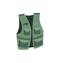 Fisherman Vest With Pockets vector image vector image