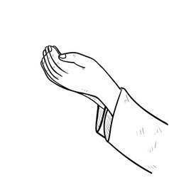 hand drawing muslim hand praying- vector image
